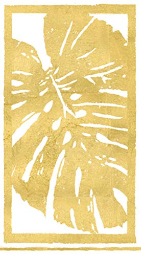 Caspari 3-Ply Paper Palm Leaves, Guest Towel Napkins, Gold Pack of 30