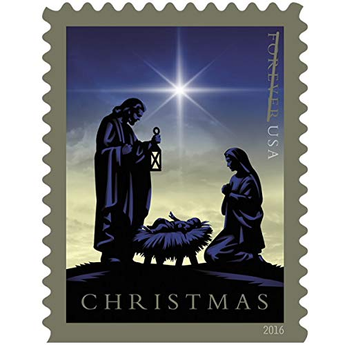 Nativity USPS Forever First Class Postage Stamp U.S. Holy Family Holiday Christmas Sheets (60 Stamps) (3 Booklets of 20 Stamps) (Postcards Hobby)