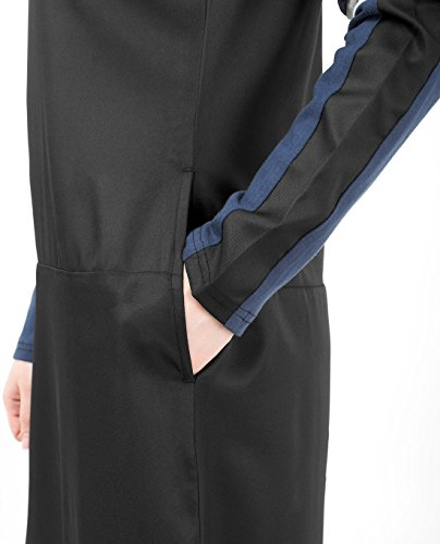 Silk Route Black Navy And White Subtle Curve Polyester Sporty Maxi Dress Jilbab Large 54 by Silk Route (Image #3)