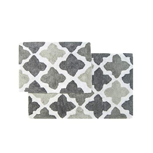 Chesapeake Merchandising Inc. Alloy 2 Piece Bath Rug Set - Grey, 21