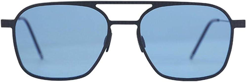 X&L Lunettes de soleil pour hommes en aluminium, en fibre de carbone et en magnésium, lunettes de soleil polarisées carrées, lunettes de soleil anti-reflets pour conducteur Bleu