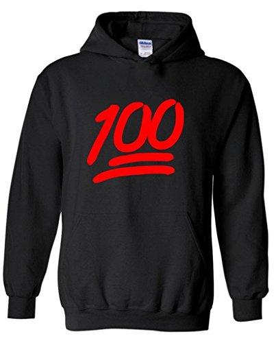 icustomworld 100 Emoji Red Hoodie Keep it Hip Hop Music Tee Hooded Sweatshirt