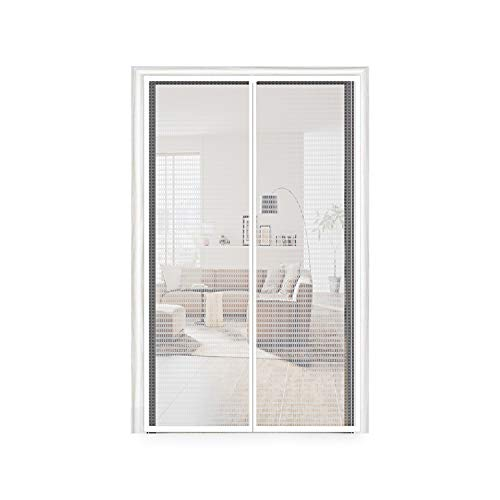 Temporary Door Curtain 32, Thermal and Insulation EVA Magnetic Screen Plastic Door Curtain Enjoy Cool Summer & Warm Winter Fit Your Door Size Up to 30x79 Inch (32x80 Inch, Transparent)