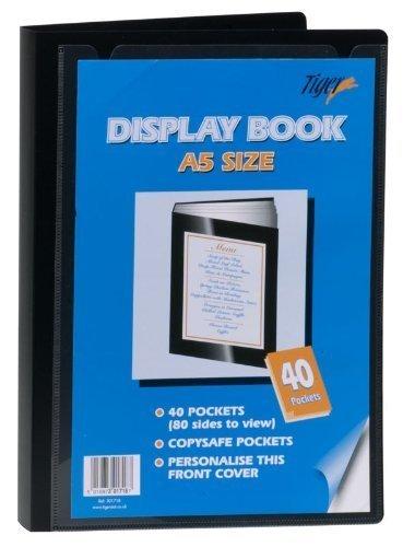 Art portfolio presentation display book, 24-pocket, black.