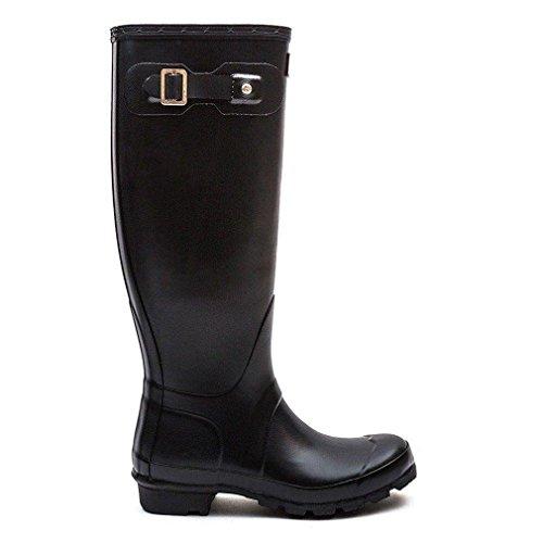 Dames Jager Laarzen Originele Lange Sneeuw Regen Waterdichte Laarzen Zwart