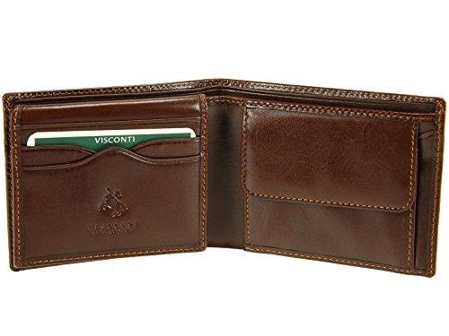 Superior De Billetes Caballeros Lujo De Marrón Y Mz4 De Crédito Las De Monedas Banco Grado Tarjetas Para De Visconti Cartera Cuero 65txwS6qf