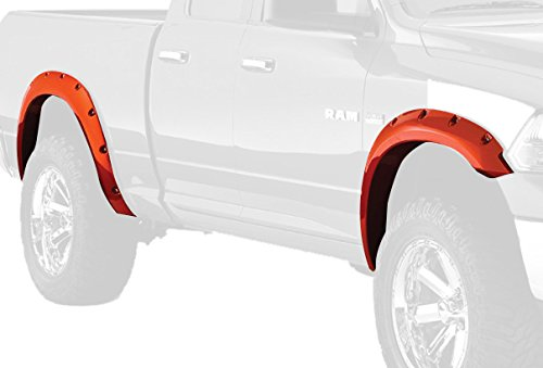 Bushwacker 50919-15 Bright White Clear Coat Pocket Style Fender Flare for RAM, (Set of 4)