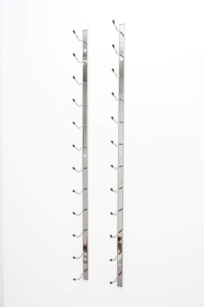 VintageView Wall Series- 18 Bottle Wall Mounted Wine Bottle Rack (Satin Black) Stylish Modern Wine Storage with Label Forward Design