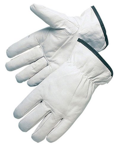 Goatskin Leather Driver (Liberty 6827 Quality Grain Goatskin Leather Driver Glove with Keystone Thumb, Medium (Pack of 12))