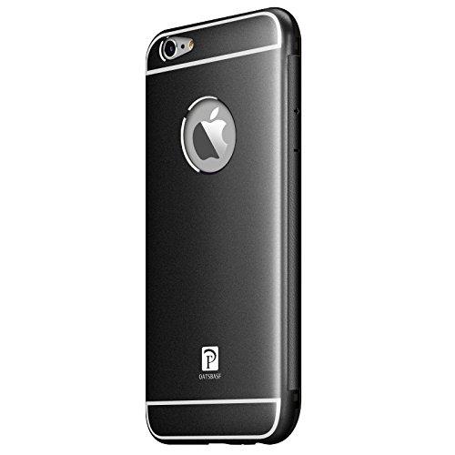 "VAPIAO Alu Back Cover Schutzhülle ""Sanders"" Hard Cover Flip Case aus Aluminium für iPhone 6, 6s in Schwarz"
