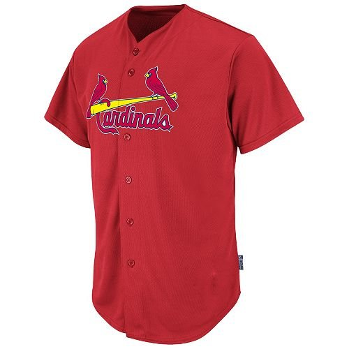 Majestic Athletic St. Louis Cardinals Full-Button Blank Back Major League Baseball Cool-Base Replica MLB Jersey