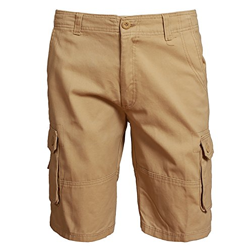 Mens Casual Work Wild Classic-Fit Twill Messenger Cargo Shorts With 6 Pockets khaki/30 (Wild Shorts Golf)