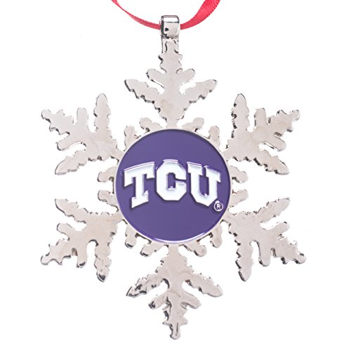 Texas Christian University Horned Frogs - Collegiate Pulse TCU (Texas Christian University) Horned Frogs NCAA Snowflake Christmas Ornament