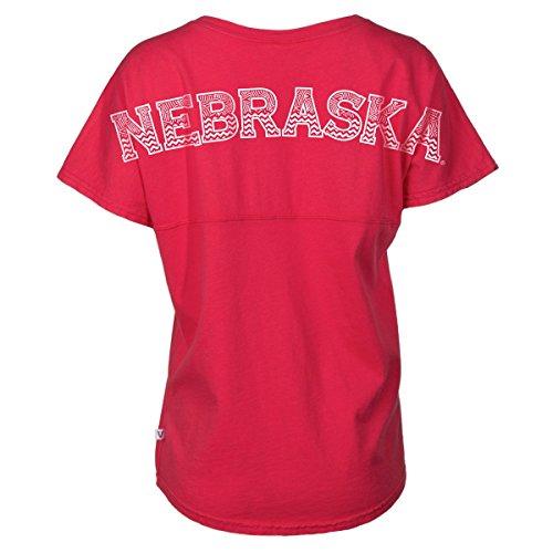 (Official NCAA Nebraska Cornhuskers Huskers Womens Spirit Wear Jersey T-Shirt M)