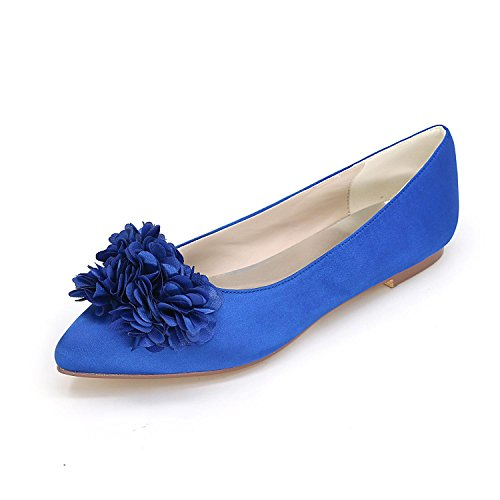 L@YC Women Wedding Shoes Shirt Flat Shoes Wedding / Party and Wedding Shoes More Colors Blue YL0XF