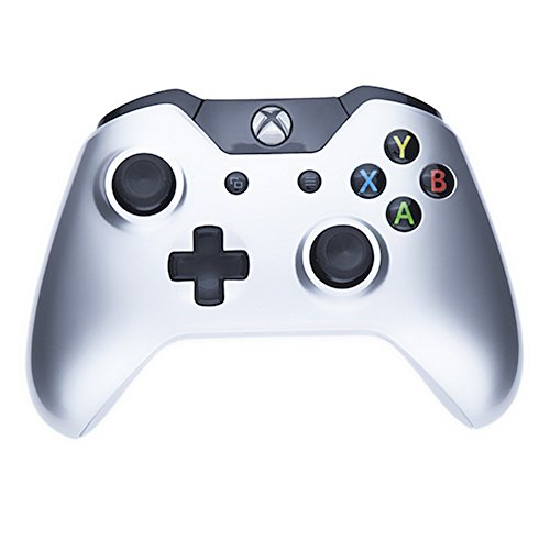 Mod Freakz Xbox One Controller Shell/Buttons Polished Shiny Silver (NO 3.5 Port)