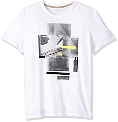 Calvin Klein Men's Short Sleeve T-Shirt With Photo Transfer Graphic