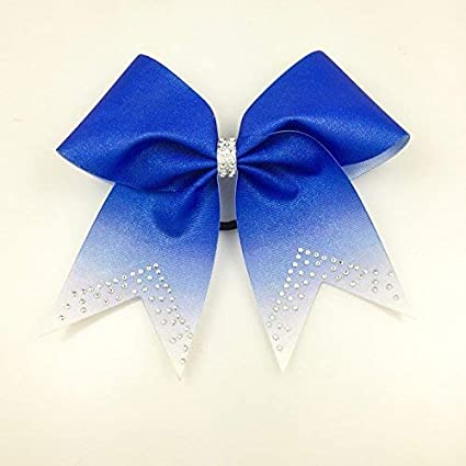 Blue Cheer Bows Rhinestone Cheerleading Bow Volleyball Bow Softball Team Bow Texas Size Gift Bow Glitter Bows Rhinestone Bows