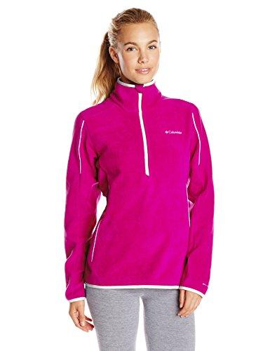Columbia Women's Crosslight II Half Zip Fleece Jacket, Groovy Pink, Large