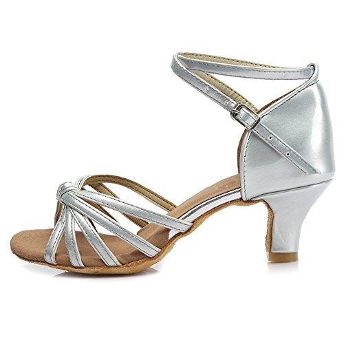Shoes 217 Silver Latin Modern 5cm Dance HROYL Ballroom Satin Samba S7 Women's Standard Chacha TwfOWP40q