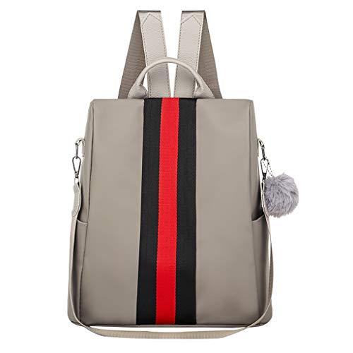 (SUNyongsh Fashion Women Oxford Waterproof Backpack Anti-Theft Large Capacity Stripe)