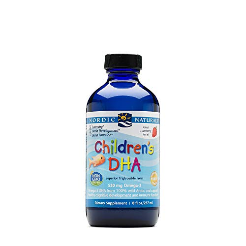 Nordic Naturals Children's DHA Liquid - Omega-3 DHA Fish Oil Supplement For Kids, Supports Heart Health and Brain Development For Children During Critical Years*, Orange, 8 oz.