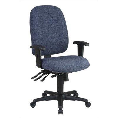 (Office Star Work Smart Ergonomic Multifunction High-Back Chair, 38 1/4