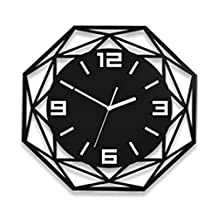 Black Wall Clock Retro Modern TV Wall Hanging Restaurant Bedroom Simple Decoration Fashion Bedroom Environmental Protection,L