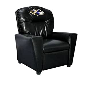 Imperial Officially Licensed NFL Furniture: Pre-Teen Faux Leather Recliner, Baltimore Ravens