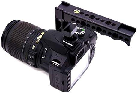 P Prettyia ホットシューカメラエクステンダーバートップハンドルグリップビデオスタビライザー、デジタル一眼レフカメラ用1/4インインおよび3/8インインネジ付き