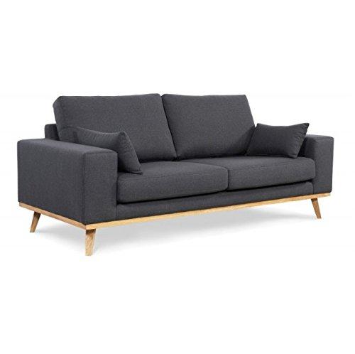 Thais - moderno y cómodo sofá - sofá de calidad - color gris ...