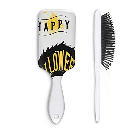 Happy Halloween scared black cat Hairbrush For Unisex Unique Hair Comb Detangling Dry Hair For HairBrush ()