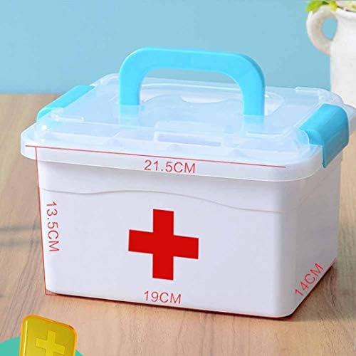 救急箱 薬箱 応急ボックス 多機能収納ケース 携帯 大容量 取っ手付き 収納箱 ツールボックス 小物入れ 応急処置 くすり 収納 収納ボックス 緊急 防災 薬入れ 小物入れ 19*14*13.5cm 26*19*20cm