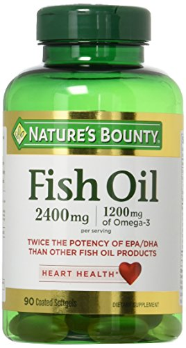 Natures Bounty Fish Oil 2400 mg Double Strength Odorless 90 Softgels (Pack of 2) Review