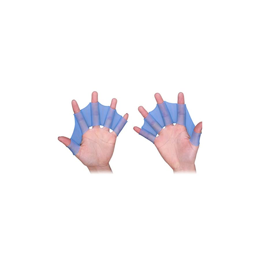 Webbed Swimming Gloves Odowalker Soft and Environmentally Friendly Swimming Surfing Diving Exercise Increased Water Resistance and Reinforced Muscle Footbed Training Silicone Gloves