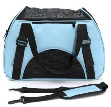 Dog Carrier Bag,Linka Portable Travel Pet Carrier for Dogs,Cats and Puppies,Foldable & Washable Travel Carrier,Outdoor Pet Travel Carrier Mesh Blue For Sale