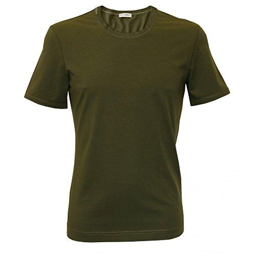 Dolce & Gabbana Rundhalsausschnitt Mako Baumwolle Herren T-shirt, Grün