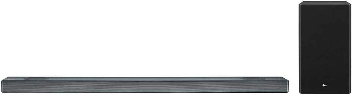 LG SL9YG - Barra de Sonido 4.1.2 con Tecnología Meridian (500 W, Asistente de Google en Español Integrado, Dolby Atmos, DTS:X, Hi-Res 24 bits/192 kHz, HDMI 2.0, Wi-Fi, Bluetooth, USB) Color Negro