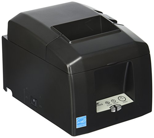 (Star Micronics, TSP654IIBI-24OF GRY US, Thermal Receipt Printer, Bluetooth for Android/Windows, Auto Cutter, External Power Supply Incl.)