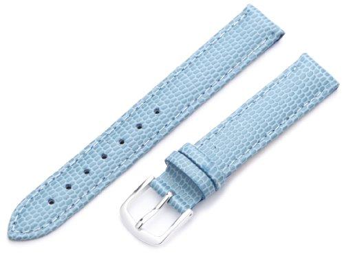 Hadley-Roma Women's LSL725RG 140 14-mm Light Blue Java Lizard Grain Watch Strap