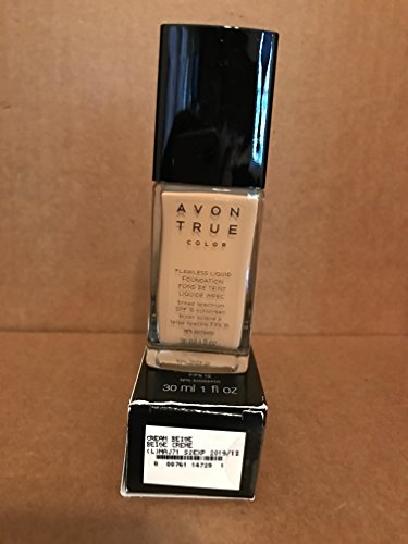 True Color Liquid Foundation - Avon TRUE Color Ideal Flawless Liquid Foundation broad spectrum SPF 15 sunscreen CREAM BEIGE
