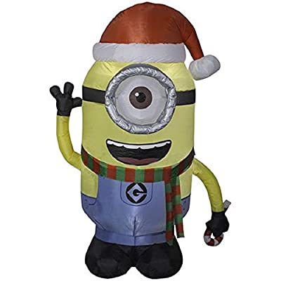 ghi Christmas Inflatable 4.5' Minion Stuart Airblown by Gemmy
