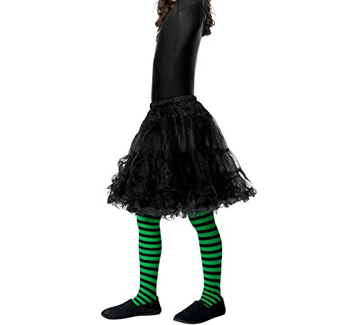 Smiffy's Wicked Witch Tights, Green/Black, One Size