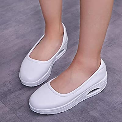 YiYLunneo Womens Slip On Shoes Wedges Platform Shoe Loafers Daily Walking Soft Bottom Non-Slip Duty Shoes Nurse Shoes: Clothing