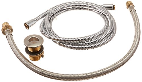 Hansgrohe 06438820 Metal Hose Pull-Out Set with Hand Shower Holder and Elbow, Brushed Nickel by Hansgrohe