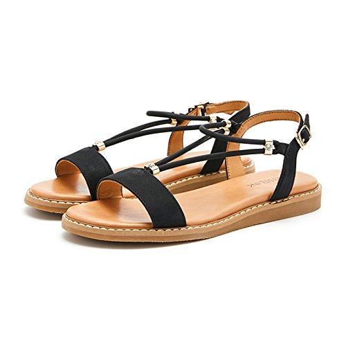 De Hebilla Mujer Zapatos Verano Nueva Romana Correa dQCrhstx