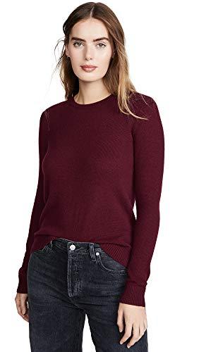 Theory Women's Crew Neck Pullover, deep Cherry, M