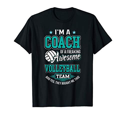06fdff7b9 Awesome Volleyball Team Coach T-Shirt Volleyball Coach Gift