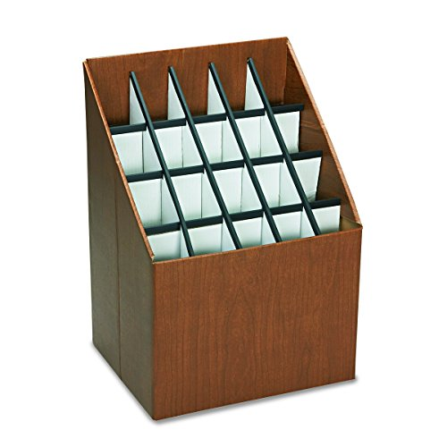 Safco Products 3081 Vertical Roll File, 20 Compartment, Walnut by Safco Products (Image #2)