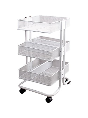 Storage Studios Mobile Craft Cart with Dividers, 27.5 x 15.1 x 13.9'', White by Storage Studios